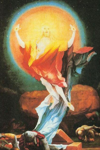 Auferstehung Christi          Isenheimer Altar des Grünewald