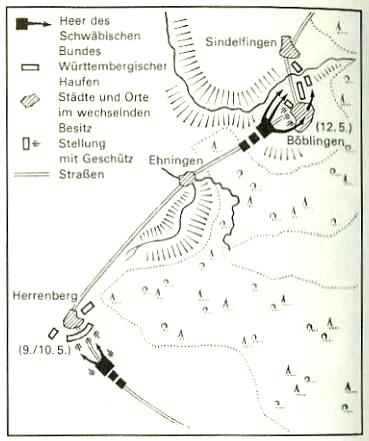 Militärische Auseinandersetzungen bei Herrenberg und Böblingen 9.-12.Mai 1525