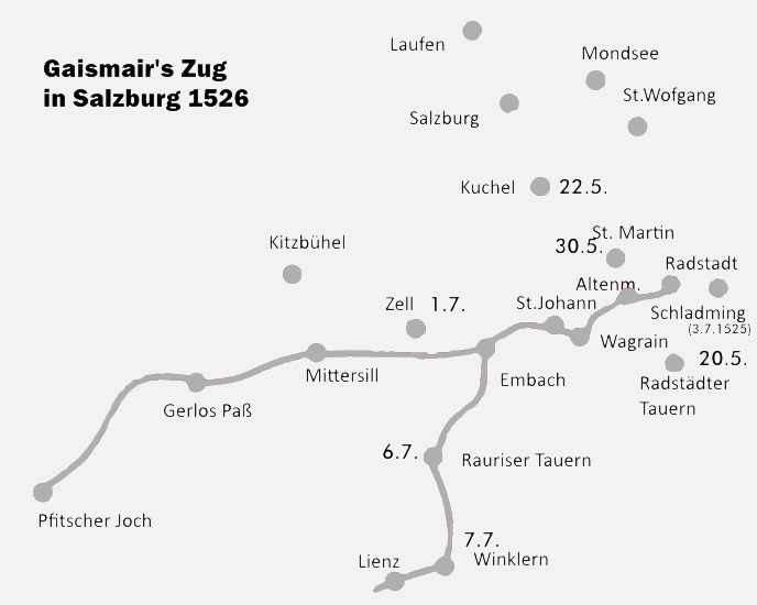 Zug des Michael Gaismair 1526