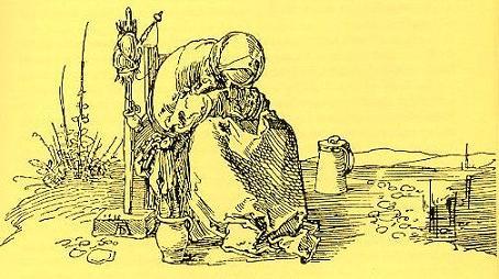 Weinende Bäuerin          Federzeichnung  Albrecht Dürer  um 1515